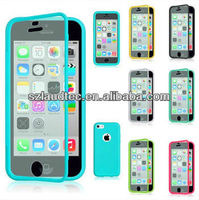 For Apple iPhone 5C TPU Wrap Up Phone Case Cover with Built In Screen Protector for iphone5c