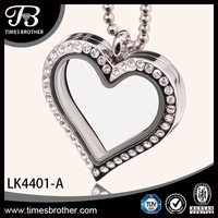 China plated pendant locket stainless steel wholesale Glass Living Memory Locket