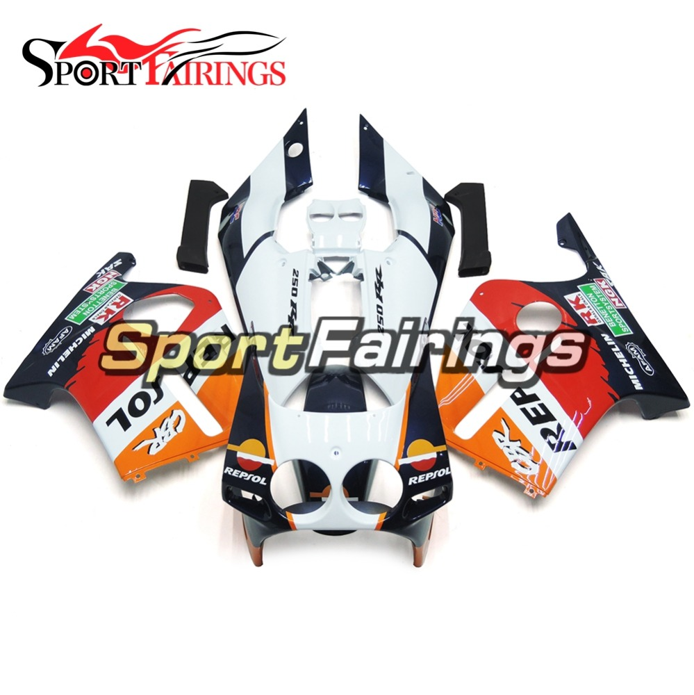 White Red Orange Complete Motorcycle Injection ABS Plastic Fairings For Honda CBR250RR MC19 88-89 1988 1989 Fairing Kits
