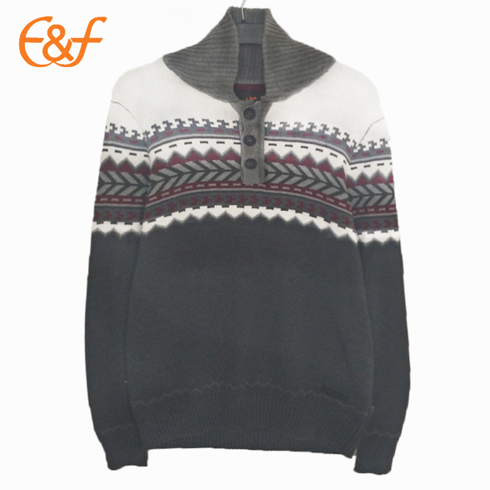 Mens Button Down Sweaters Shawl Collar Sweater Knitwear For Men