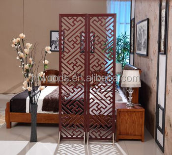 Retro Distinctive Chinese Solid Wooden Screen Room Divider Decorative