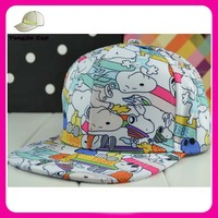 Cartoon Stlye Snnopy Graffiti Print Snapback Cap Hat For Men and Women Baseball Cap