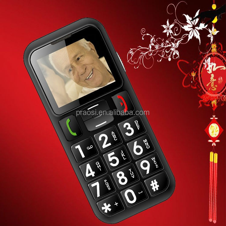 feature 3G cell phone old age person mobile phone with large button