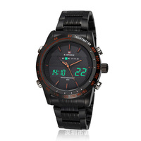 NAVIFORCE 9024 Luxury Brand Watches Men Full Steel Quartz Watch Analog Digital LED Army Military Sport Watch