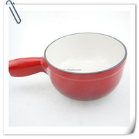 cast iron enamel cheese pot
