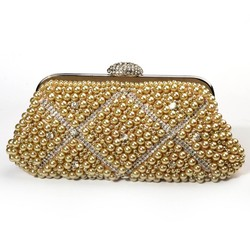 Elegant ladies Beaded clutch bag party wear evening bag for girl