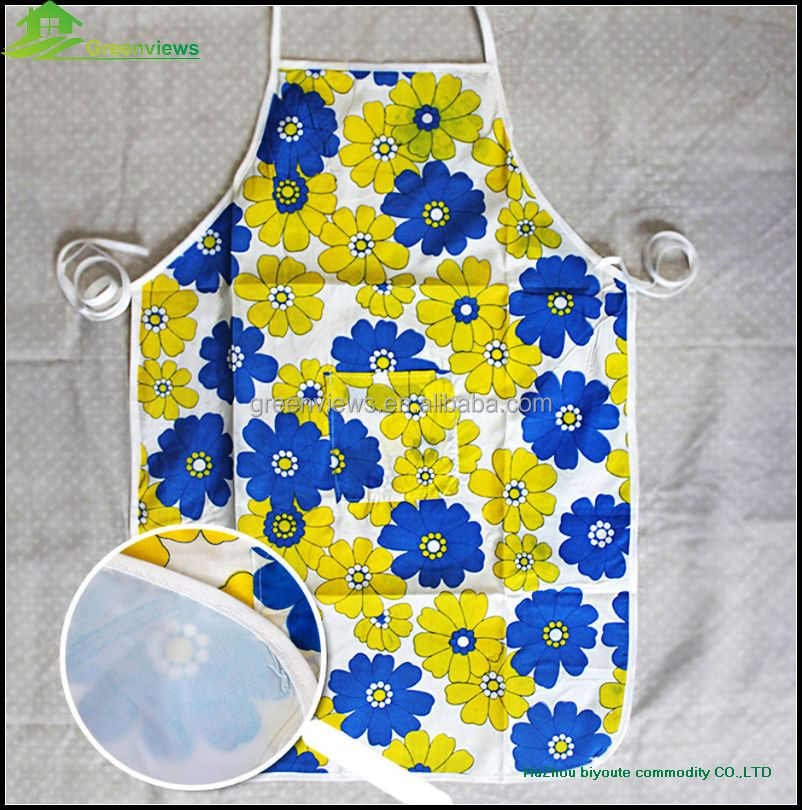 Customized kids apron children cheap kitchen aprons fancy plastic aprons for adults