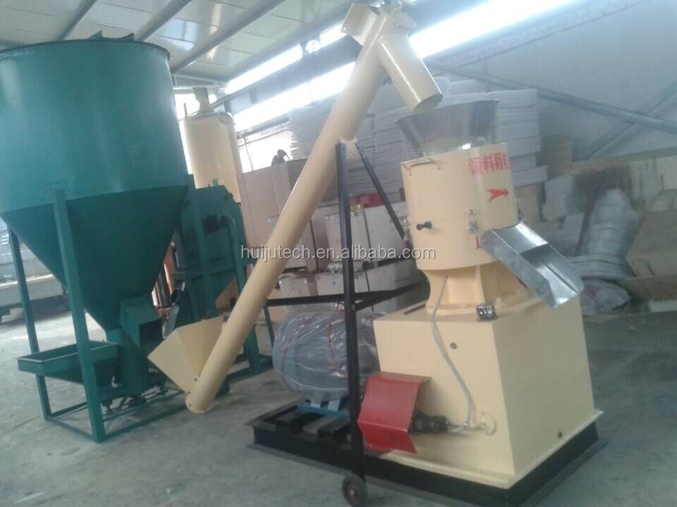 produce 300-400kg/hour automatic chicken pellet machine HJ-N250B