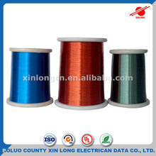 China Manufacturer Solderable 0.06mm Colored Blue Enameled Copper Wire