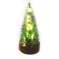 Christmas lighting decoration 6.7 inch Led Decorated Miniature Brush Tree Ornament