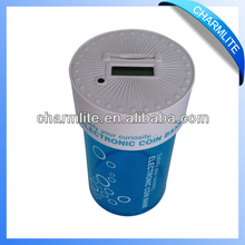 Blue Money Jar Box Electronic LCD Digital Coin Counter