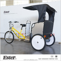 ESTER New rickshaw tricycle/adult bicycle/pedicab bike with LED lights