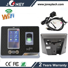 Touch screen Facial fingerprint recognition time attendance device with back up battery