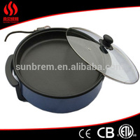 kitchen tools electric pot with thermostat control, small electric frying pan, bbq grill pan