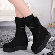 winter thick heel ankle length boots for women