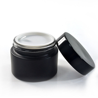 luxury high quality 5g 10g 15g 20g 30g 50g 100g cosmetic black glass jar for face cream