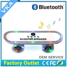 Handsfree Portable Design mini Led Scooter bluetooth Speaker,Powerful Bass, Supports USB and MicroSD