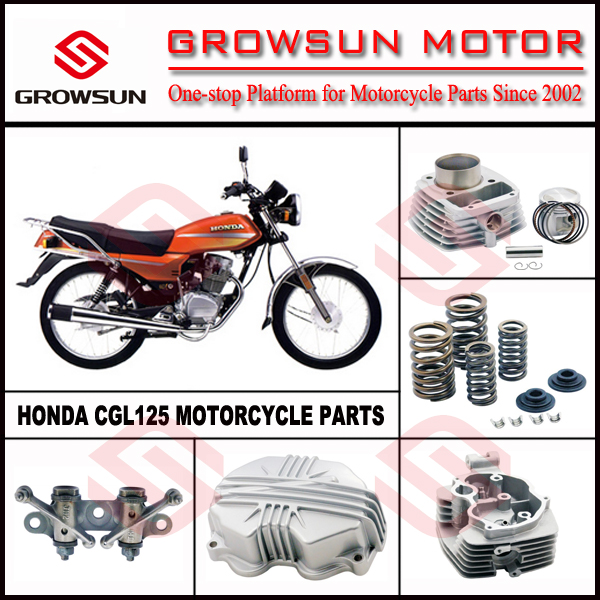Hon. CGL125 Motorcycle Spare Parts, camshaft holder, cylinder kit, cylinder head, cylinder head cover