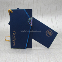 Folded blue paper tag for suits
