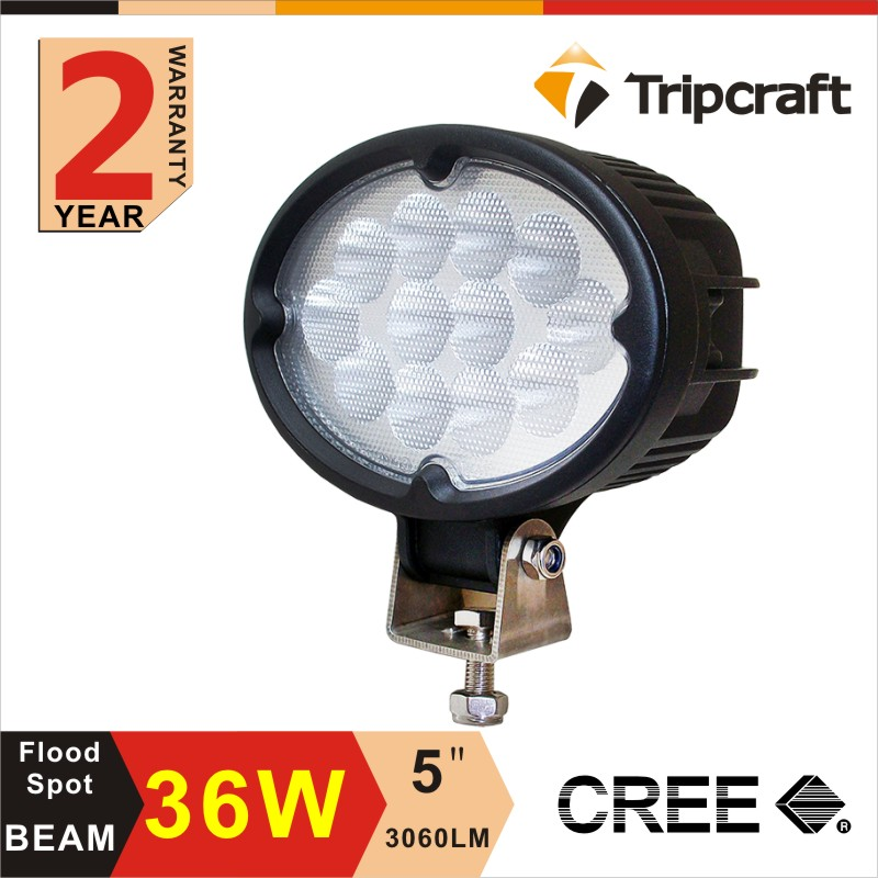 Factory Wholesale 12V 5 Inch IP67 Waterproof <strong>Crees</strong> 36W LED Work Light LED Offroad Light For 4x4 Accessories