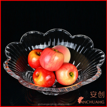 Clear high quality acrylic fruit tray, acrylic home storage tray