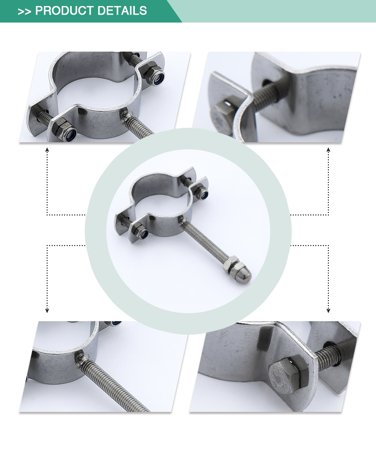 Factory wholesale standard stainless steel sanitary pipe clamp