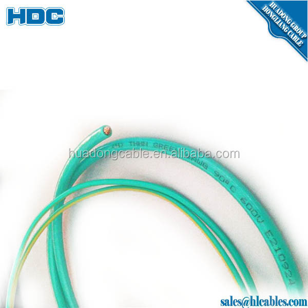 PVC insulation Nylon jacket electric wire 10awg/12 awg/14 awg thhn cable