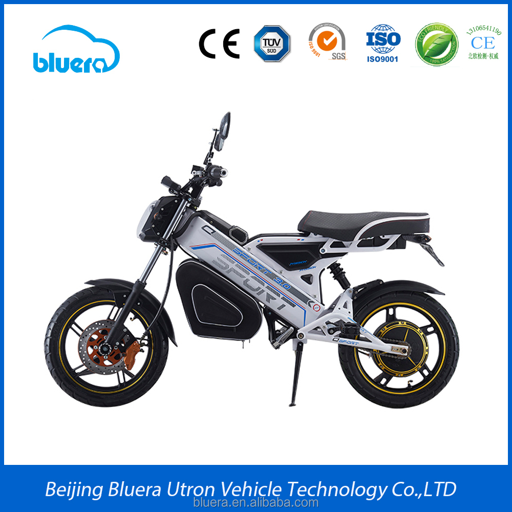 High Quality 1000w Battery Powered Folding Electric Motorcycle with 48v12ah Hidden Battery