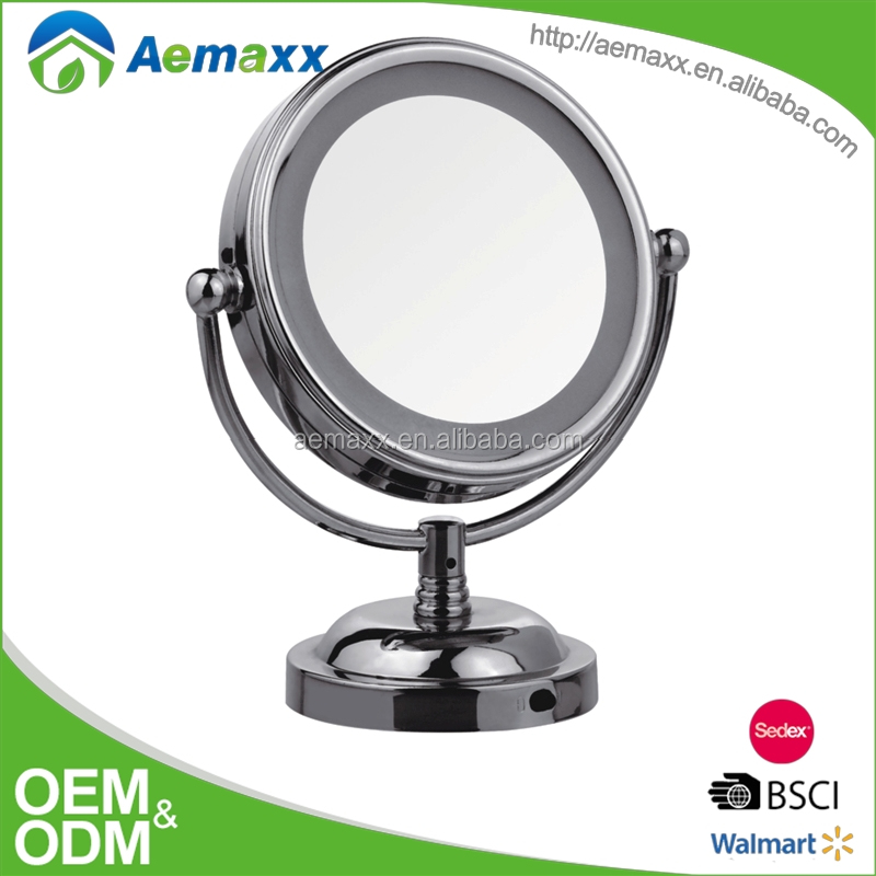 Bathroom design different size male-up mirror with LED light