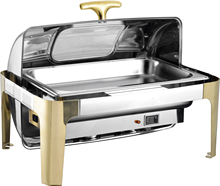 China wholesale restaurant supply stainless steel buffet chafing dish food warmer with glass lid