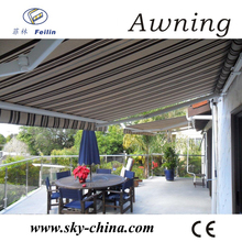 Aluminum retractable acrylic fabric for awnings