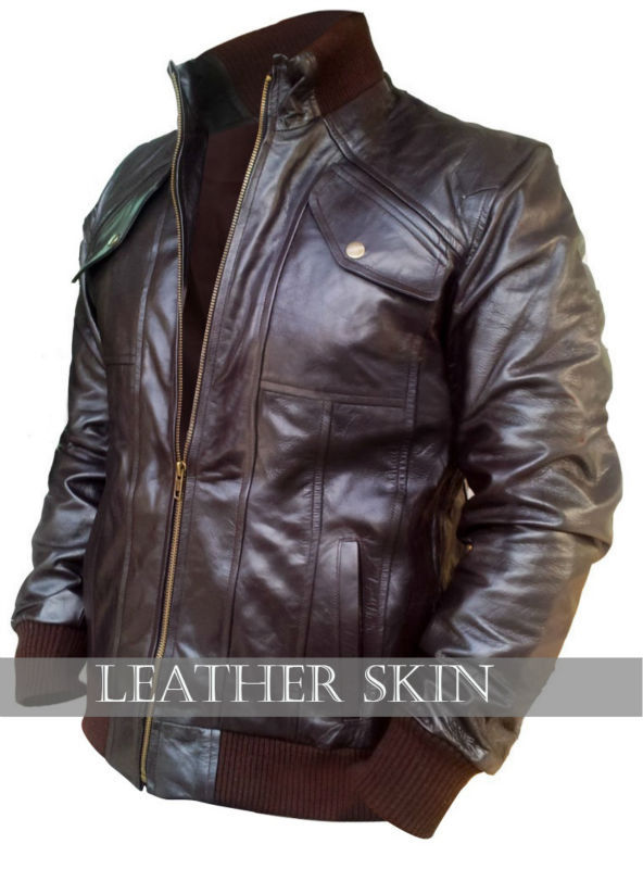 NWT Dark Brown Men Premium Genuine Pure Real Leather Jacket - All Sizes