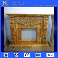 Natural cheap contemporary marble fireplace surround on sale