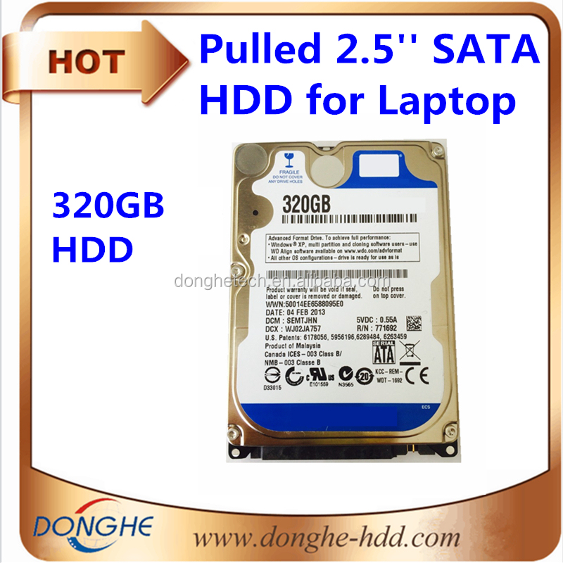 cheap used 2.5 hard drive/ 320gb hard disk laptop 5400rpm SATA 8MB hdd