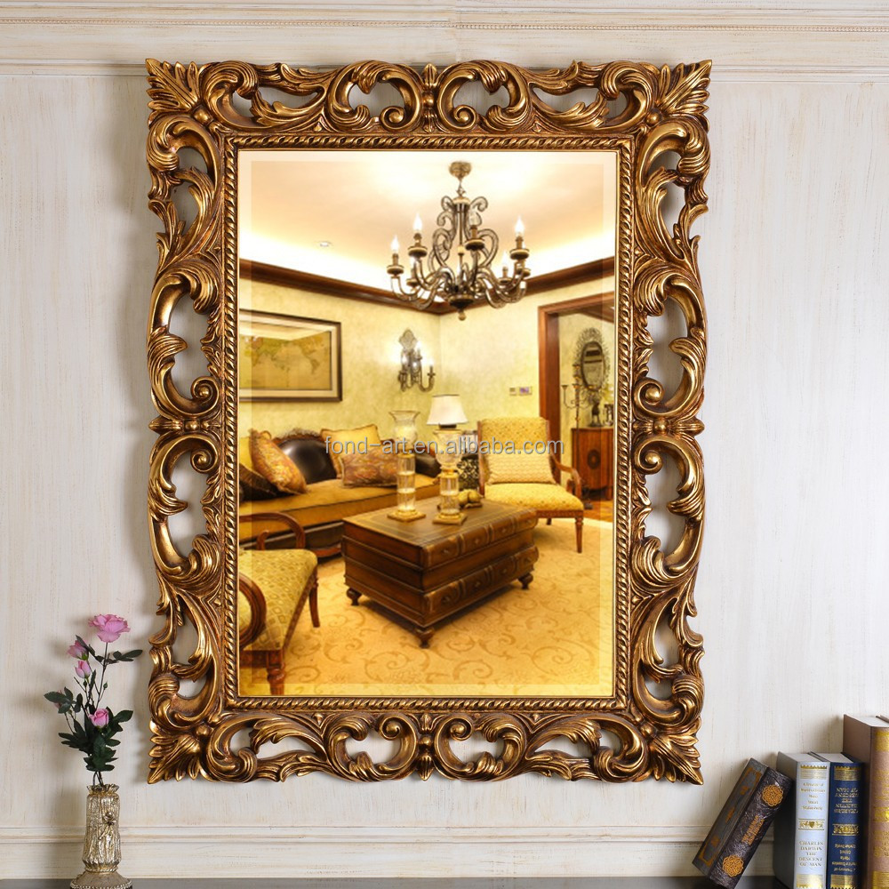 Metal wall mirrored art square wall decor mirror panel