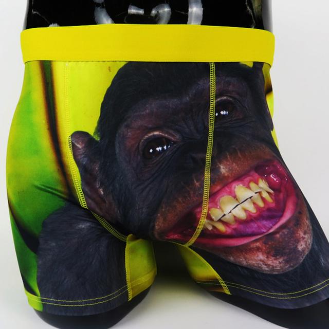 free sample sublimation print man micro underwear boxer