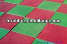 soft and safety rubber mat(sandwich system)25mm
