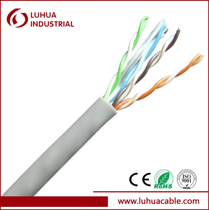 UTP CAT5E 24AWG 4Pairs Cat5e Computer Cable
