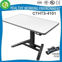 2015 electric height adjustable high tech executive office desk with controller of 4 pre-set height memory