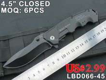 HOT SALE COLD STEEL TACTICAL KNIFE, 420 STAINLESS STEEL BLADE WITH BLACK ALUM HANDLE, FACTORY BRAND KNIFE