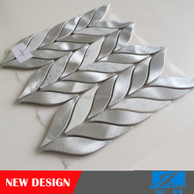 NEW Design Leaf-Shaped Aluminum Mosaic tiles for wall AAL-YYB2601