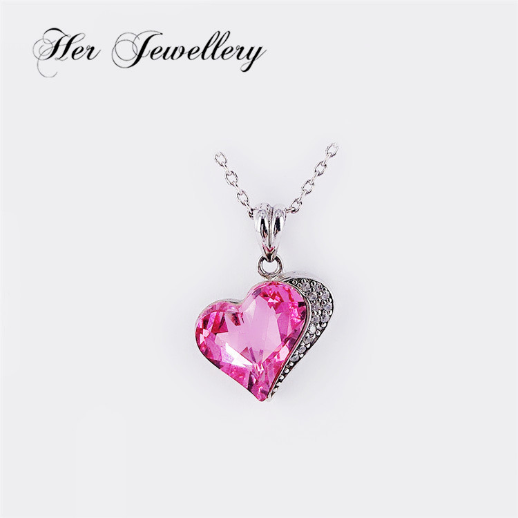 Her jewelry heart-shaped crystal pendant and Swarovski crystal from red heart necklace jewelry HSP0099