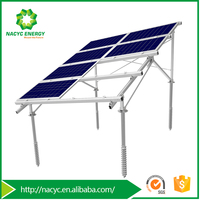 Adjustable Aluminum Solar Mounting MetisVS for Sloping Ground with Original Design