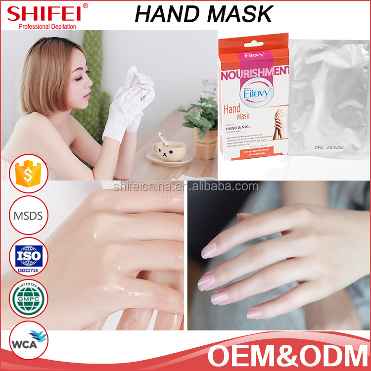 Good sale skin care free sample female whitening effect hand mask