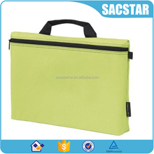 600D polyester zip closure budget conference bag document bag