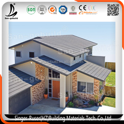 Environment Friendly Colorful Stone Coated Roof Tiles, Stone Coated Step Tile Roofing Sheet