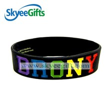 marks customized silicone band for sweethearts for international trade