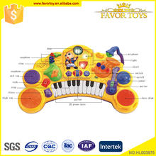 Kids educational mini electronic piano keyboard drum set music toy