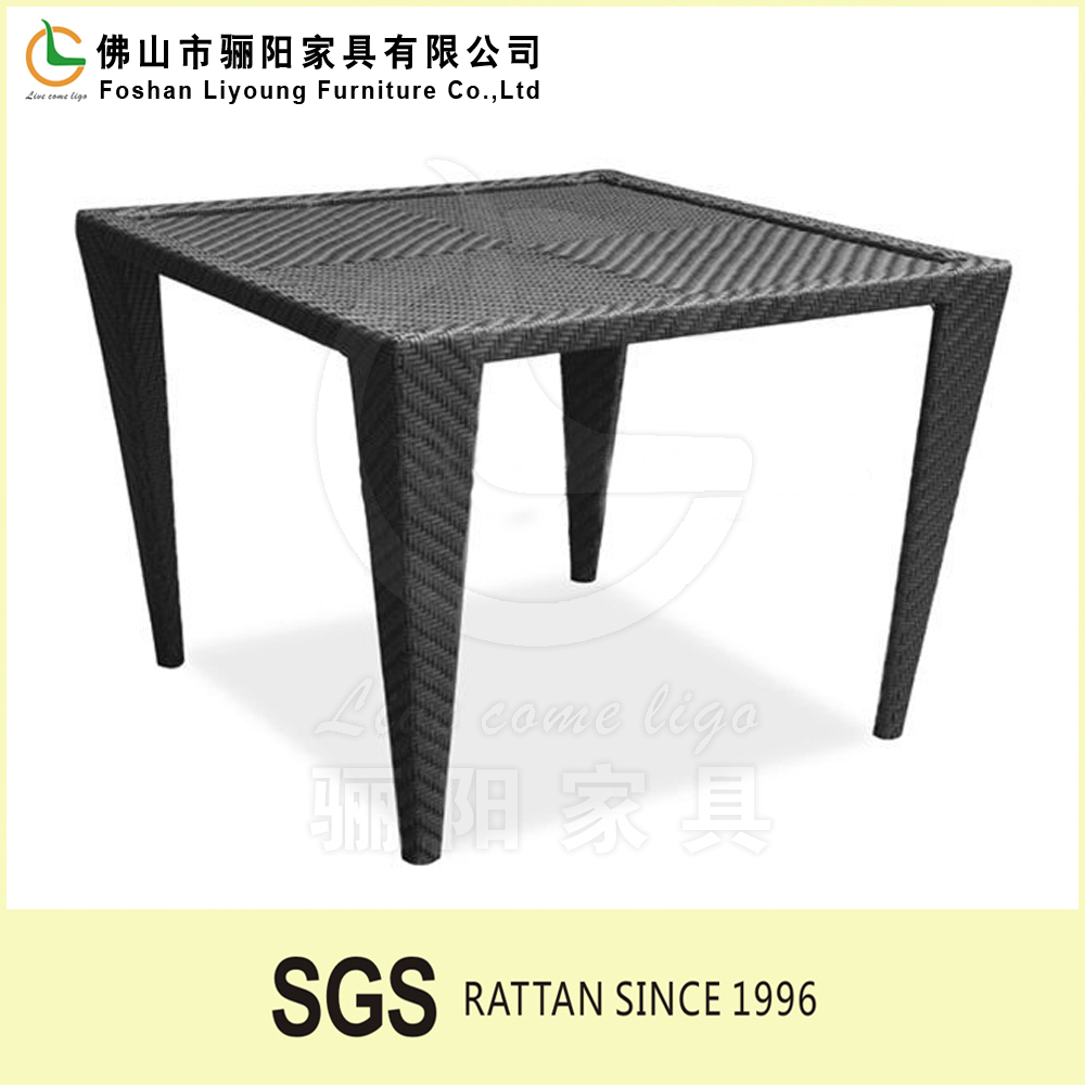 Modern Simple Folding Square PE Rattan Wicker Square table Dining table