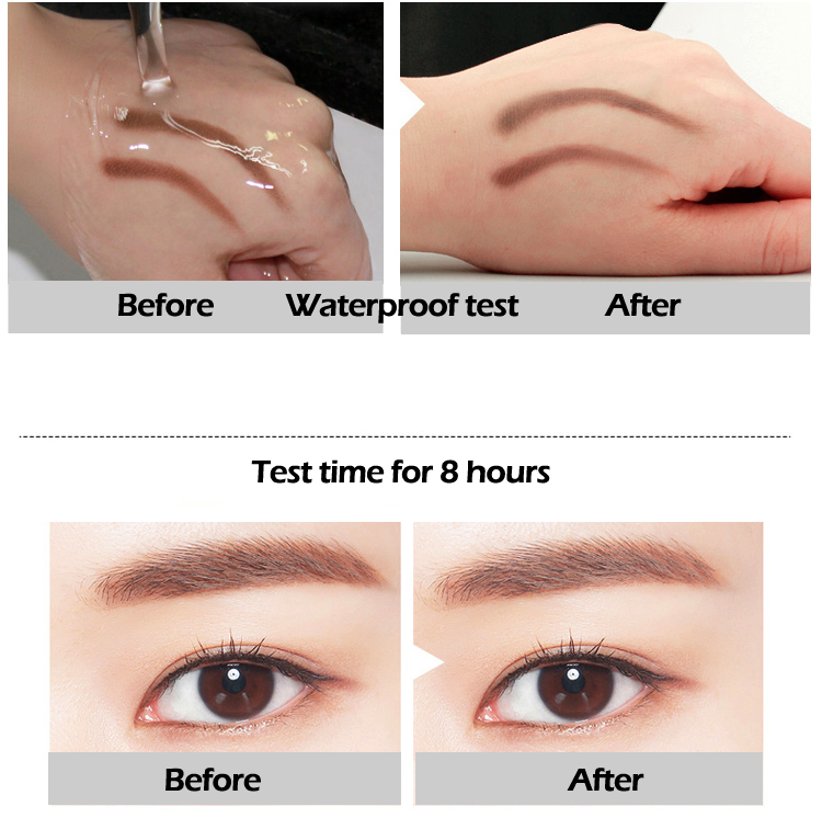 Hot seller cosmetic brands double head retractable eyebrow pencil for natural make up